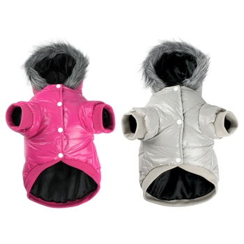 Pet Dogs Winter Warm Two Legs Costume Solid Colors Thickened Down Hoodies