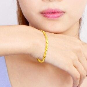 Image 5 - 24K זהב טהור צמיד 999 מוצקים זהב צמיד יוקרתי יפה רומנטי טרנדי תכשיטים קלאסיים חם למכור חדש 2020