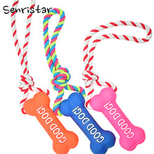 Squeaker Squeaky Cotton Rope Igračke za kućne ljubimce za pseći psi Plišani plišani zvuk Play Dohvaćanje Squeak Interactive Toy Pet Small Medium Dogs