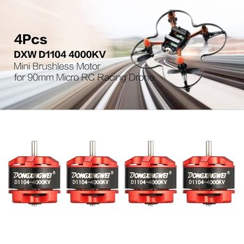 4Pcs DXW D1104 4000KV 1-3S Mini 1.5mm Brushless Motor for 90mm Micro RC Racing Drone Multicopter Quadcopter Aircraft UVA