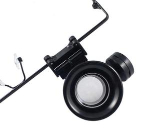 Image 5 - 20 Times Head Wearing LED Illuminated Portable Goggle Glasses Style Magnifier Loupe Medical Magnifying Glass for Clock Repair