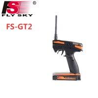 Wholesale 1pcs Flysky FS GT2 FS GT2 2 4G 2CH Gun RC System Transmitter Controller With
