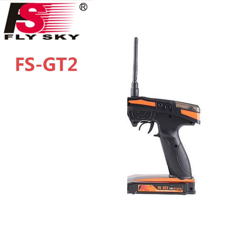 Wholesale 1pcs Flysky FS-GT2 FS GT2 2.4G 2CH Gun RC System Transmitter/Controller With 3 Channels Receiver