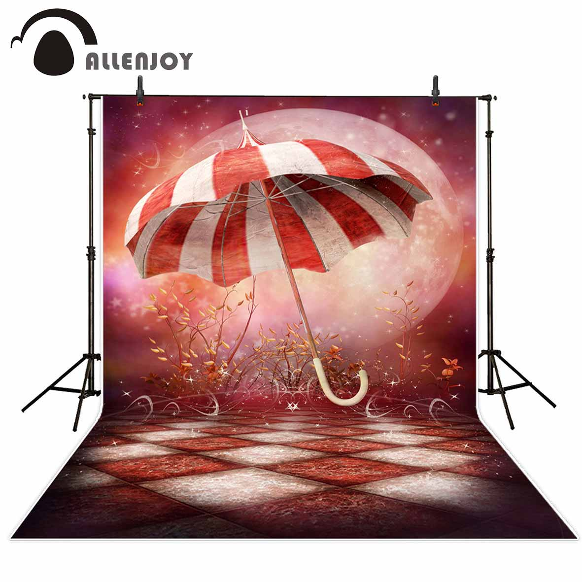 Allenjoy photography backdrops Circus Background Umbrella Children Background Moon Background for photo studio newborn circus banner party backdrops vinyl cloth computer printed children photo background circus