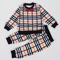 New Design Autumn Winter Cotton Long Sleeve T-shirt Top+ Pants 2 Pcs Suit Ropa De Bebe Fashion Baby Clothes