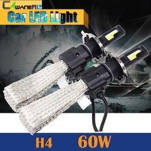60 Watt H4 H4-3 Led-lampe 6400LM 6500 Karat Kühles Weiß Hallo/Lo Strahl Auto Motorrad Scheinwerfer 1 Para