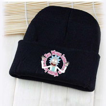 Giancomics Amusing Anime Rick and Morti Logo Hat Beanie Knitted Cotton Warm Cap Cosplay Costume Unisex