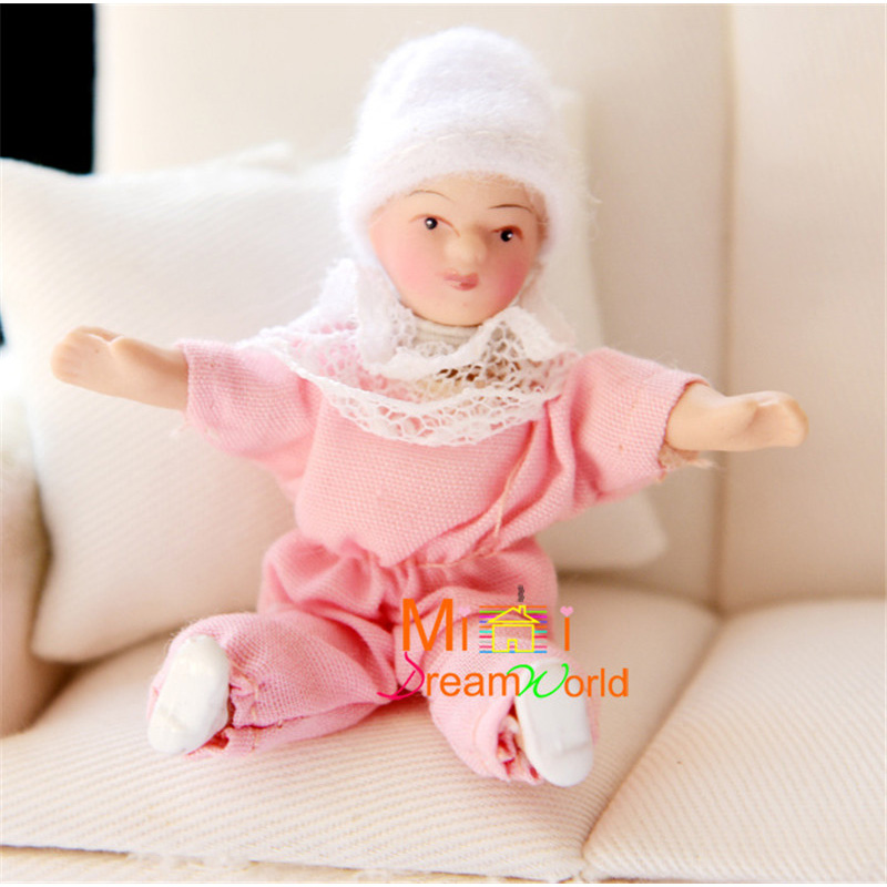 1:12 dolls mini baby doll for dollhouse furniture toy kids family pretend play toys miniature ceramics doll for girls gifts new 1