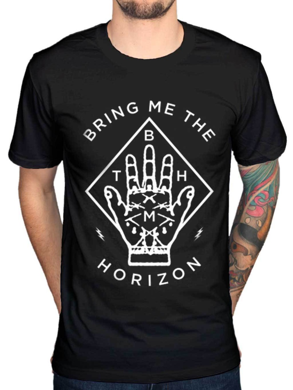 Bring me the horizon diamond hand unisex t shirt band for Which t shirt brand is the best