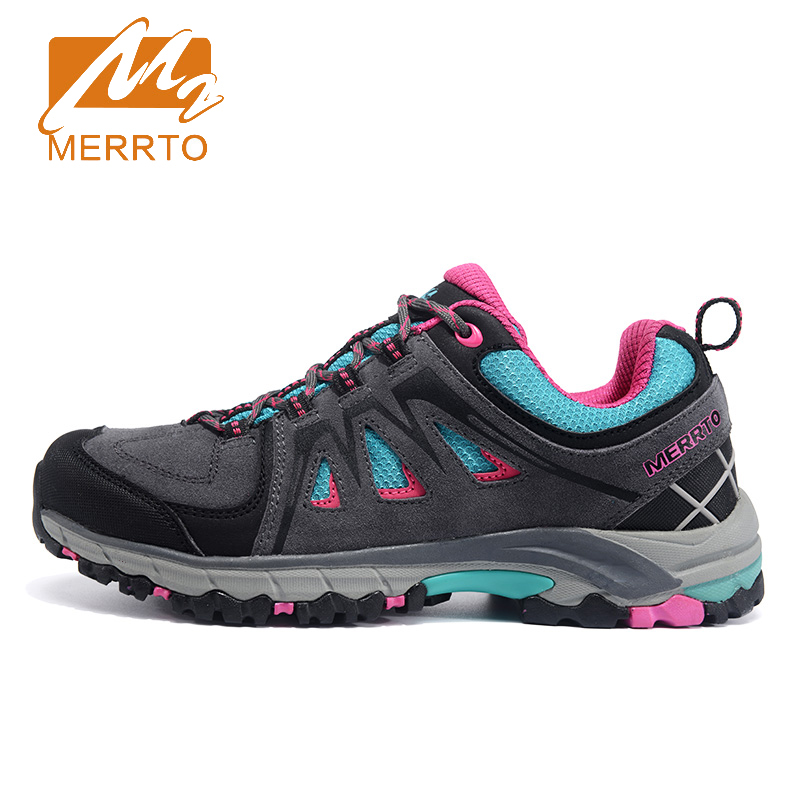 2017 Merrto Womens Outdoor Walking Shoes Breathable Light Weight Sports Shoes Travel Shoes For Women Free Shipping MT18610