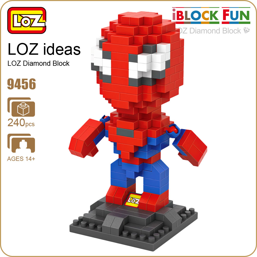 LOZ Diamond Blocks Cute Cartoon Figures Superhero Figure Action Amazing Toys For Boys Building Blocks Pixels Super Heroes 9456 building blocks super heroes back to the future doc brown and marty mcfly with skateboard wolverine toys for children gift kf197