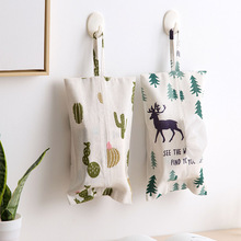 Коробка из льняной ткани для дома, кухни, гостиной, бумажный чехол, сумка, держатель для салфеток, коробки для салфеток, подвесной мешок, Рождественская елка, Лось