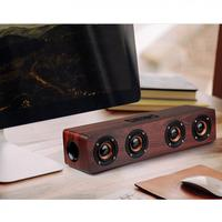 Wooden Wireless Bluetooth Speaker with TF Card Playback and AUX Wired Connection for Smartphone PC Television