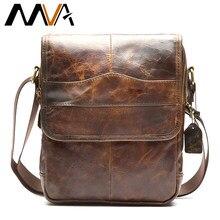 d7938913a5e5 МVА сумка мужская мужская сумка из натуральной кожи Мужчины Сумка  Почтальона Сумочки Малый сумка через плечо
