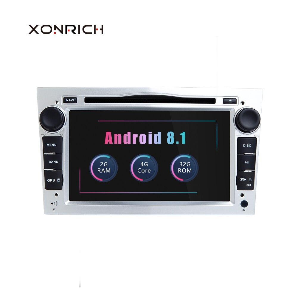 2 Din Android 8.1 Car Multimedia Player For Opel Astra H Vectra C Zafira b Corsa C D G Meriva Vivaro GPS Navigation Radio DVD