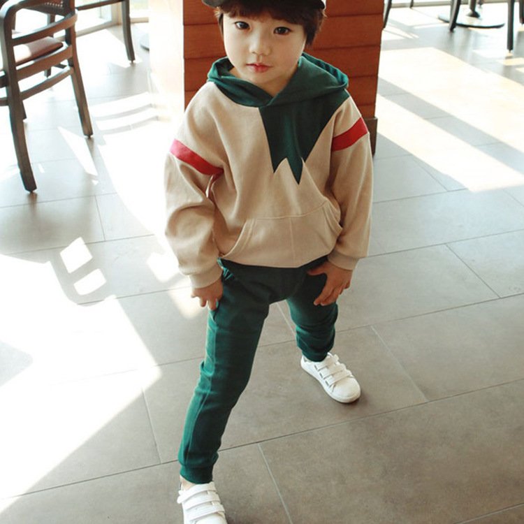 New 2017 Autumn Girls Boys Cotton Children Clothing Set Baby Clothes Long-sleeve T-shirt Hoodies Pant Kids Sport Suit CC375 2016 new winter spring autumn girls kids boys bunnies patch cotton sweater comfortable cute baby clothes children clothing