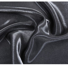 CF551 Solid Gloss Dark Grey Thick Silk Satin Tencel Cotton Linen Fabric Coloured Glaze Fashion Fabric For Women's Dress Skirt(China)