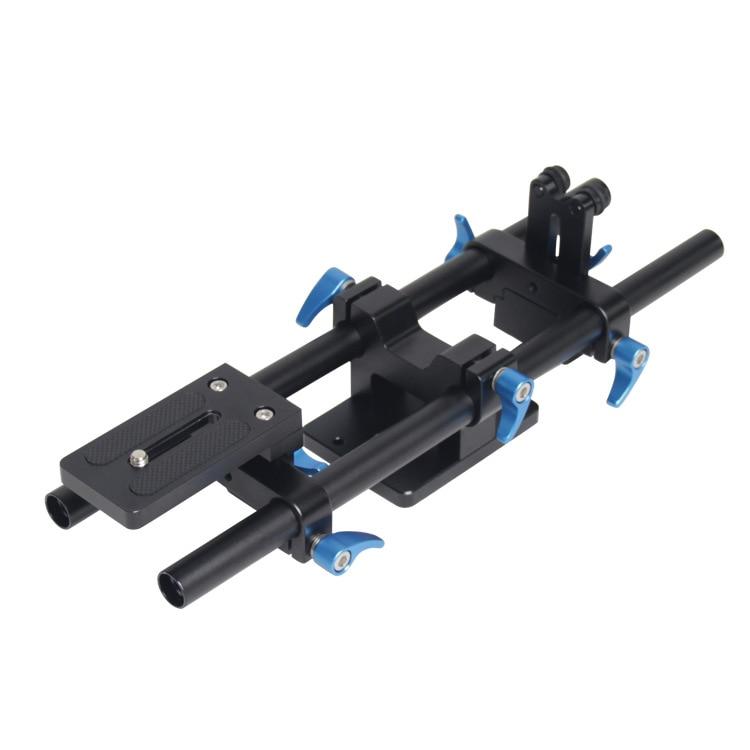 bilder für SLR Kamera Schiene Verbindungen DSLR Schiene Slider Grundplatte Stativkopf mit Schnellwechselplatte