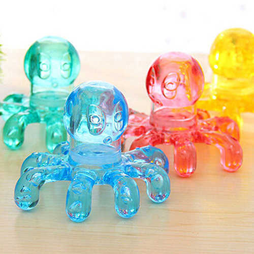 Mini Octopus Shape Personal Massage Muscle Relaxing Body Neck Massage Tool Portable Crystal Claw Massage Handheld Massage