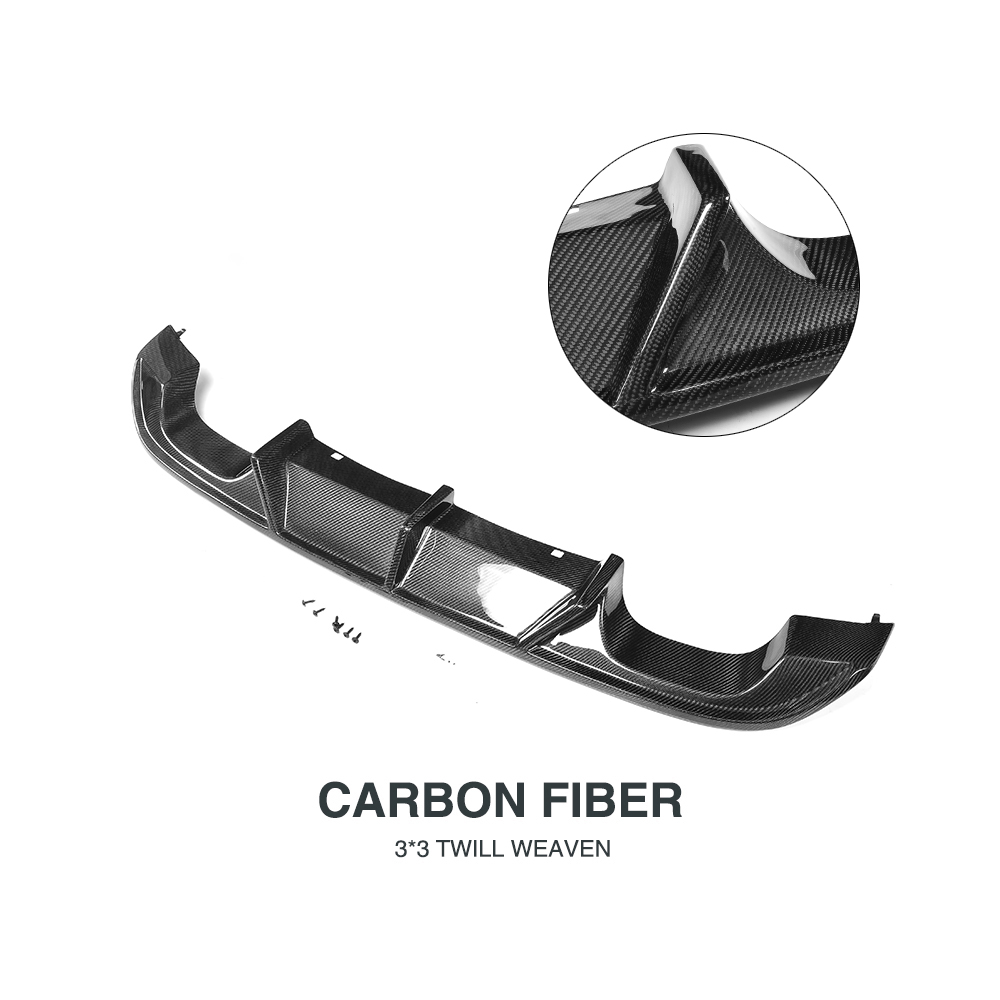 Carbon Fiber Rear Bumper Exhaust Diffuser Lip Spoiler for Volkswagen VW GOLF 7 R R LINE Hatchback Only 14 17 Non Standard in Bumpers from Automobiles Motorcycles
