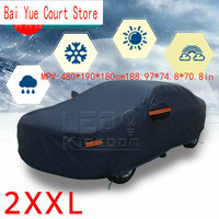 Full Car Cover Waterproof UV Rain Snow Dust Resistant All Weather Protection US MPV:480*190*180cm188.97*74.8*70.8in
