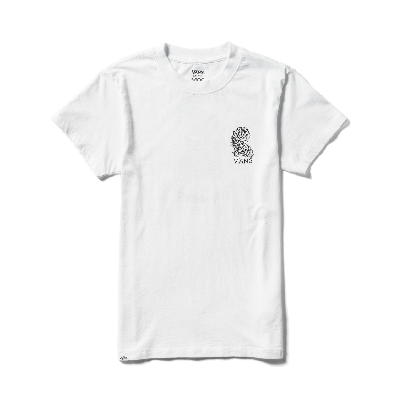 Original New Arrival Vans Skateboarding Men's Cotton O-neck T-Shirt Classic Tops Breathable Short Sleeve Tees VN0A3J2VBLK/WHT mens casual 3d personality skull printing short sleeve t shirt cotton sport black tees