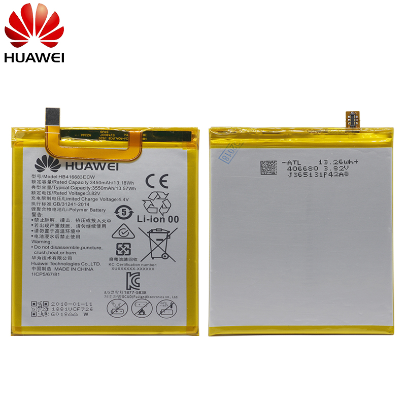 Hua Wei Original Phone Battery HB416683ECW for Huawei Nexus 6P H1511 H1512  3450mAh Original Replacement Battery Free Tools