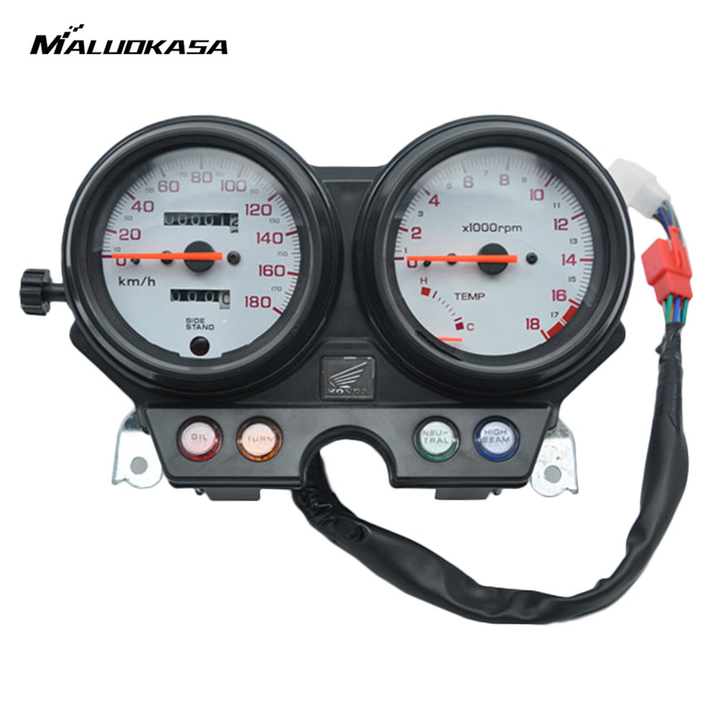 MALUOKASA Motorcycle Gauges Speedometer Tachometer Odometer Cluster For Honda CB250 Hornet 1995 1996 1997 1998 Moto Instruments