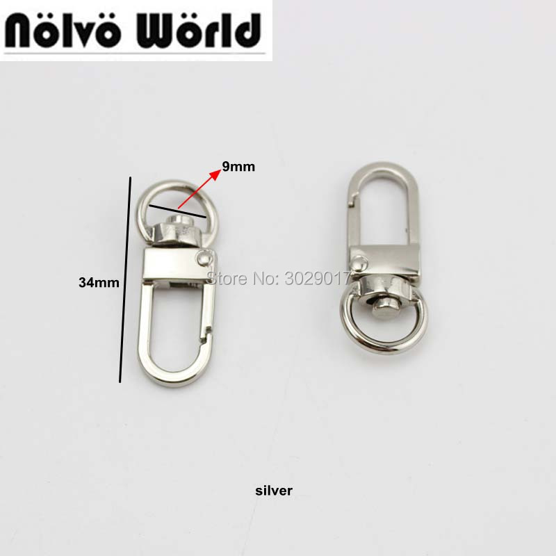 50pcs 5 colors 9mm top ending gold silver tone trigger snap hook clasp metal clip swivel dog leash hardware 4colors owner 52567 16 hooked snap swivel 9 шт
