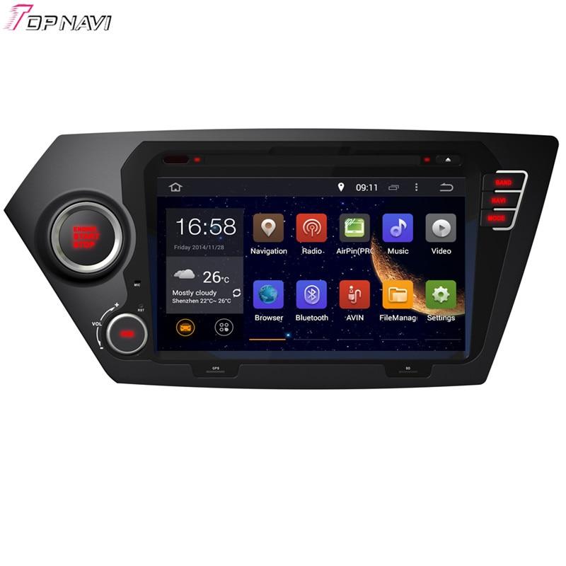 Topnavi 8 ''Quad Core Android 6.0 voiture lecteur DVD pour KIA K2 2011-/RIO 2012-Autoradio GPS Navigation Audio stéréo