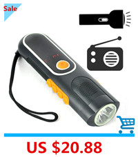 3-IN-1-Emergency-Hand-Power-LED-Flashlight-with-AM-FM-Radio-Rechargeable-LED-Flash-light