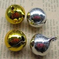 50 шт. 18 мм Малый Белл Craft Ювелирные изделия Свадебные Талисманы бисера Золото Серебро дополнительно 011018