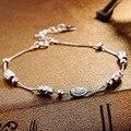 Factory Direct S925 Silver Bracelet Korean Fashion Female Wild Temperament Silver Inlaid Jewelry Wholesale Models