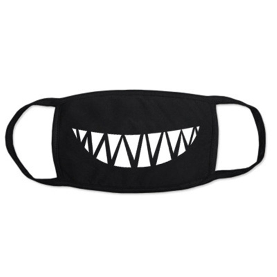 Cotton Black Text Mouth Mask Anti Dust Mask Activated Carbon Filter Windproof Mouth-muffle Bacteria Proof Flu Face Masks Care