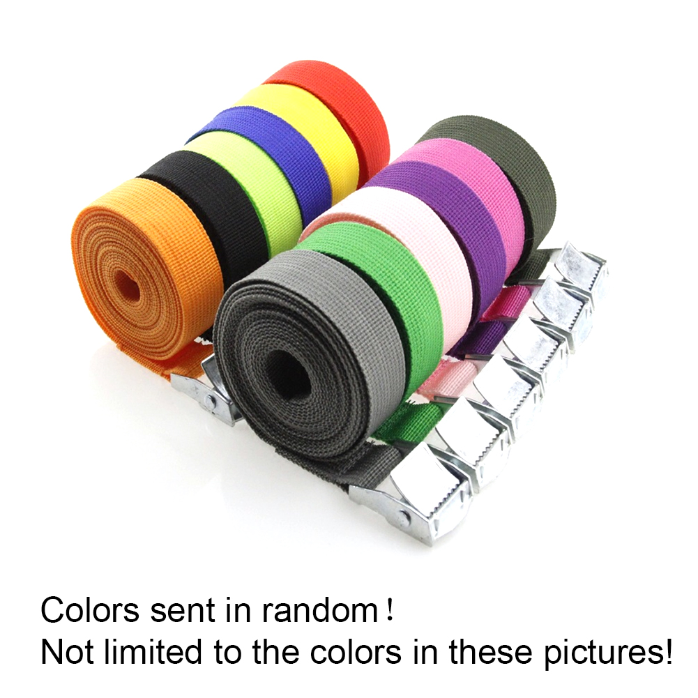 2M*25mm Car Tension Rope Tie Down Strap Strong Ratchet Belt Luggage Bag Cargo Lashing With Metal Buckle