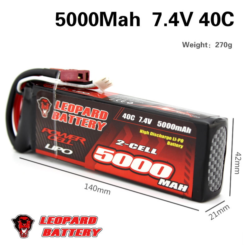 2PCS Lipo Battery 2S 5000mAh Lipo 7.4V Battery Pack 50C Battery for 1/10 Car 1/8 RC Car for Traxxas Slash Emaxx Bandit 7 4v 500mah 50c lipo battery