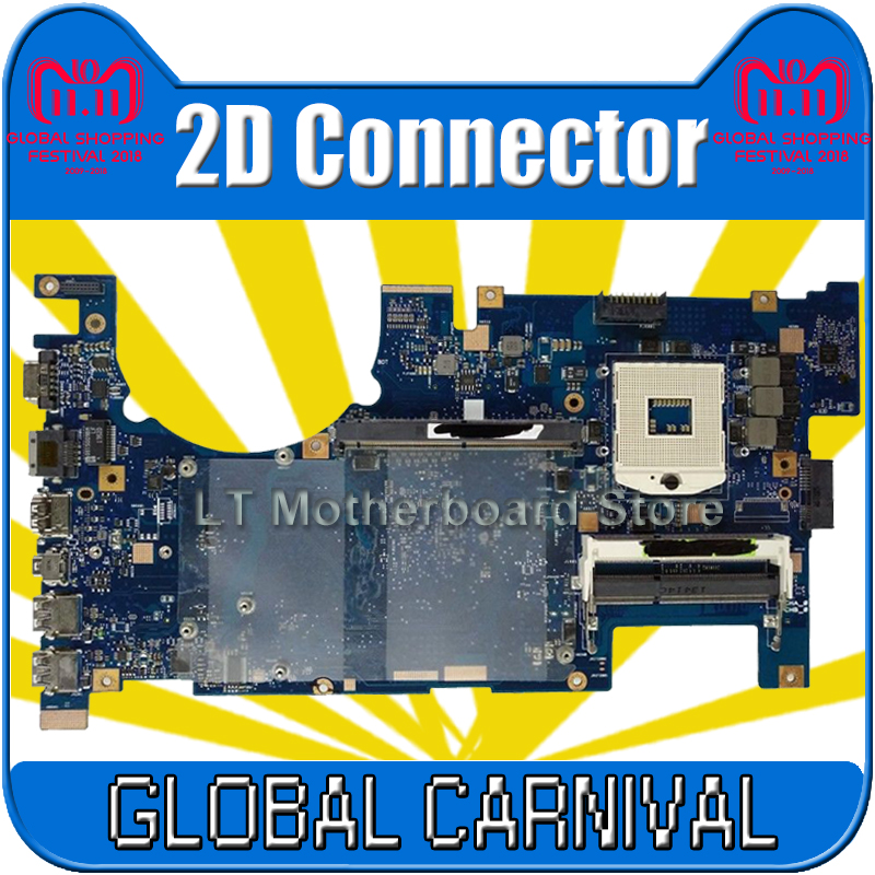 send board+G75VW Motherboard 2D Connector PGA 989 For ASUS G75VW Laptop motherboard G75VW Mainboard G75VW Motherboard test OK