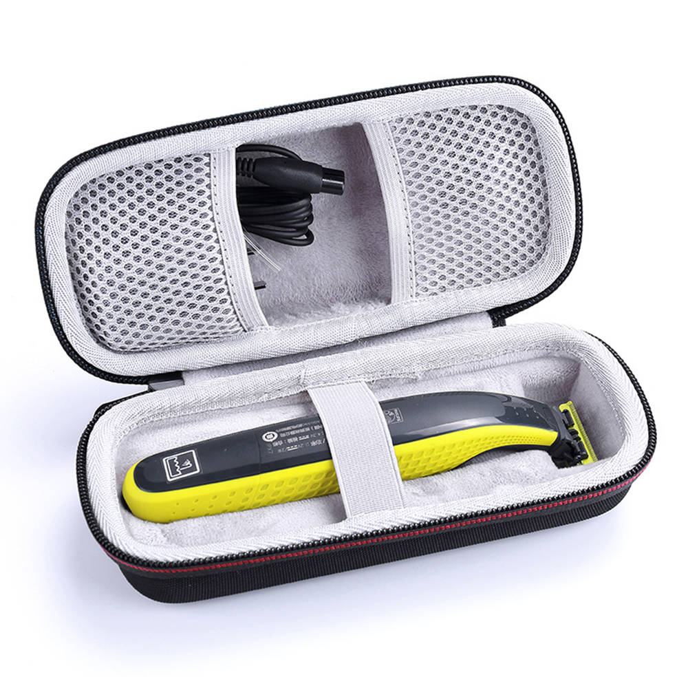 Mais novo eva caso portátil para philips oneblade trimmer shaver e acessórios saco de viagem pacote de armazenamento caixa capa bolsa com forro