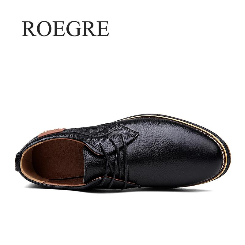 2019 New Men Oxford Genuine Leather Dress Shoes Brogue Lace Up Flats Male Casual Shoes Footwear Loafers Men Big Size 39-45 4