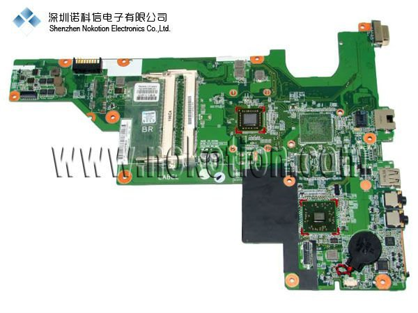 NOKOTION Original laptop Motherboard For hp CQ57 653985-001 15.6 LaptoP Mainboard 100% FULL TEST