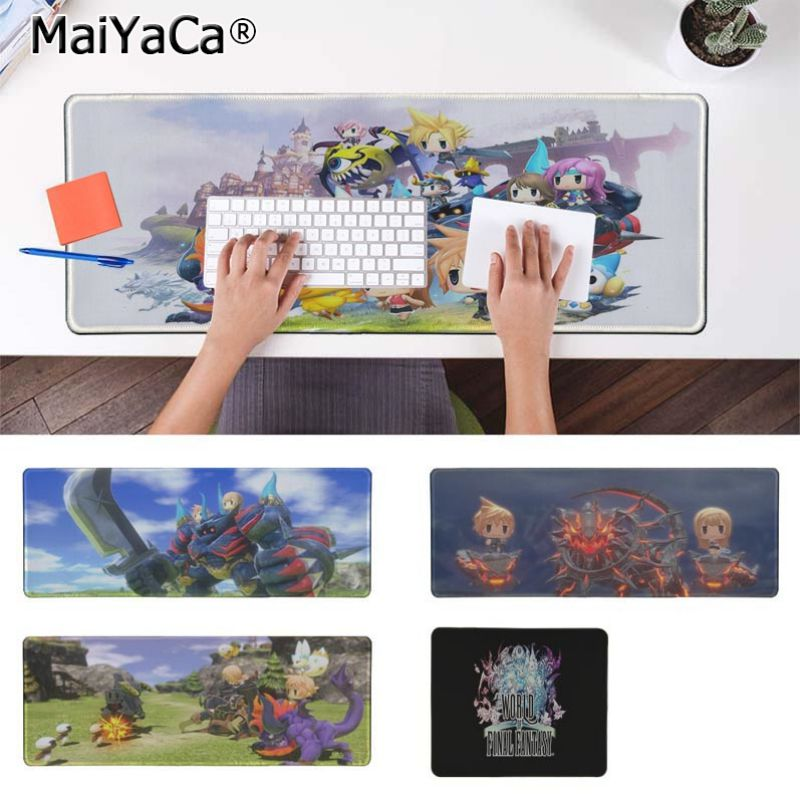 Yinuoda World of Final Fantasy Keyboard Gaming MousePads Size for 30x90cm and 40x90cm Gaming Mousepads