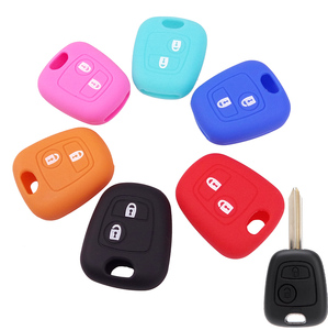 2 Button Silicone Key Cover For Citroen C1 C2 C3 C4 Xsara Picasso For Peugeot 106 107 206 207 307 Fortoyota Aygo Remote Case Fob(China)