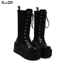 Korean New Autumn Winter Round Toe Martin Boots High-heeled Thick Heels Female Women Boots