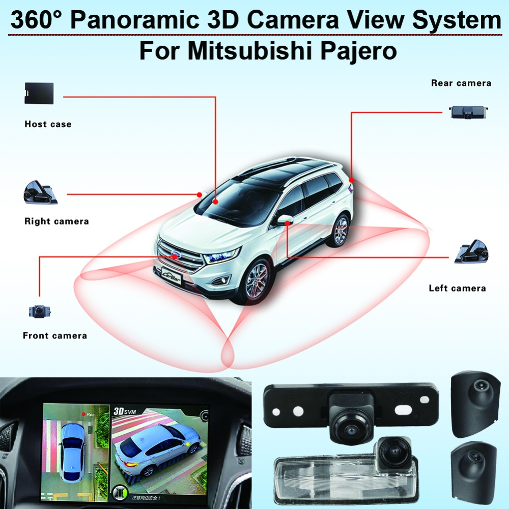 Car 360 3D Around View Monitor AVM System Surveillance Panoramic Security Outdoor DVR Recorder for Mitsubishi Pajero Sport