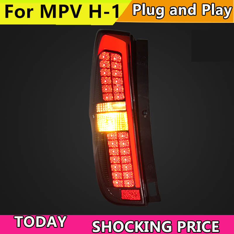 LED CVX Tail Lamp for Hyundai MPV H-1 Wagon taillights 2011-2014 Starex H1 Tail Light Drl+signal+brake+reverse стоимость