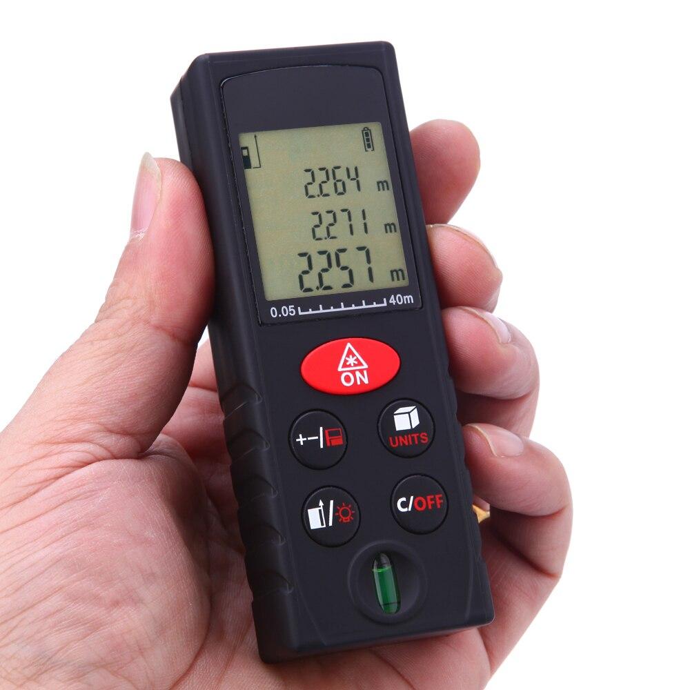 40/60/80/100 m laser Mètre de Distance Laser Numérique télémètre Surface Volume laser ruban à Mesurer télémètre testeur + Niveau Bulle