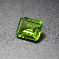Emerald Shape Olivine Stone Peridot Beads Fancy Colored Faceted Chrysolite Loose Gemstones For Jewelry Making Created