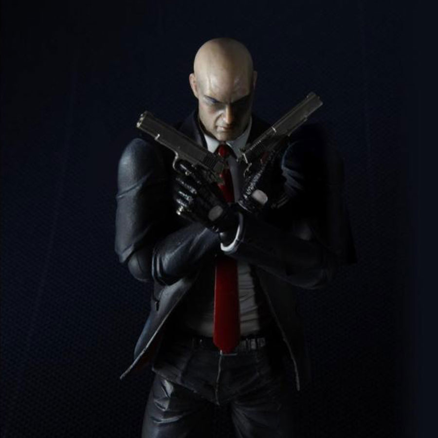 Play Arts KAI PVC Action Figure 23cm Joint movable Hitman Absolution Agent 47 Model Doll Collection Toys Gift image