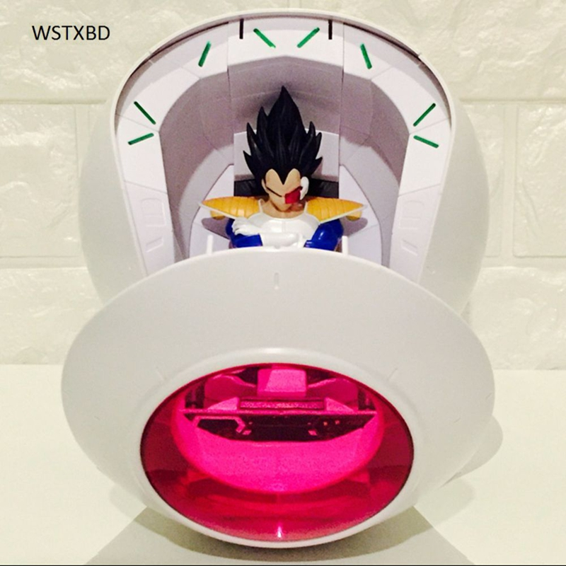 WSTXBD Original Dragon Ball Z DBZ Figure-Rise Vegeta Ship PVC Figure Toys Figurals Dolls new original dragon ball z dbz blue god vegetto final pvc figure toys figurals model kids dolls