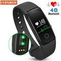 ID107 inteligente Pulseira Bluetooth Inteligente Pulseira inteligente pulseira de fitness Monitor de Freqüência Cardíaca banda Pulseira De Fitness Rastreador Android